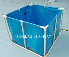 PVC Tarpaulin liner Collapsible and foldable breeding koi holding tank
