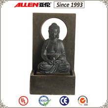 "24.4"" Indoor & Outdoor Sitting Large Buddha Statue Water Fountain"