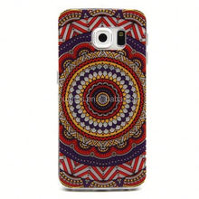 Refined Flower Color Circle TPU Mobile Phone Case for Samsung Galaxy S6 Edge