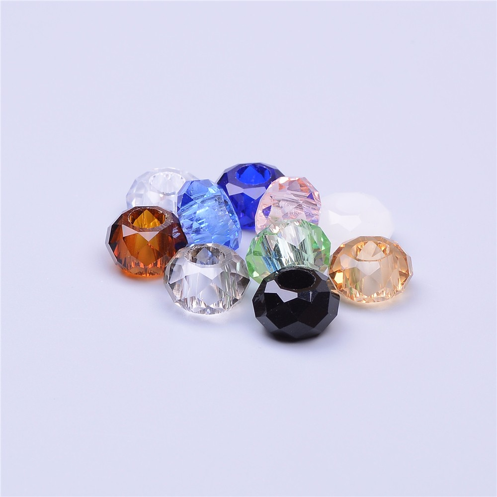 PuJiang factory wholesale large hole expanded glass beads