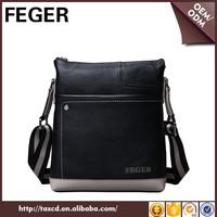 Promotion men's genuine leather messenger bag shoulder feger