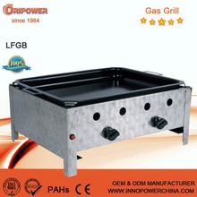 commercial portable outdoor gas grill 3 burners, CE, LFGB