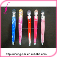 Fashion beauty colorful stainless steel led eyebrow tweezer