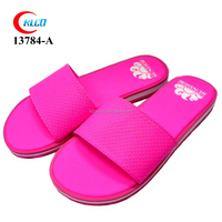 custom made cheap blank sublimation red women flip flops shoes