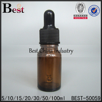 High Quality Beautiful Amber Glass Dropper