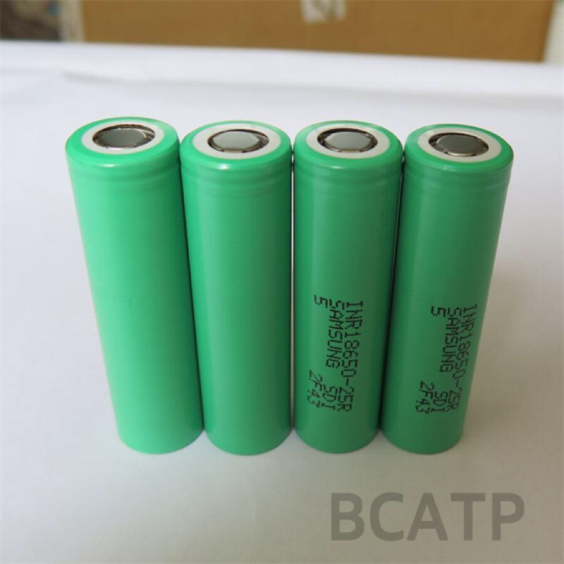 Authentic samsung 25r 2500mah 3.7v battery 18650 high power cell for battery prices