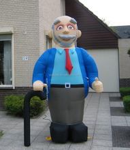 Inflatable Abraham Old Man Balloons with Crutch for Sale