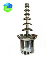 Stainless steel 350W 7 tiers commercial Chocolate Fountain Machine, chocolate tempering fountain machine