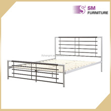 Industrial Furniture Romantic Chromed Double Metal Bed