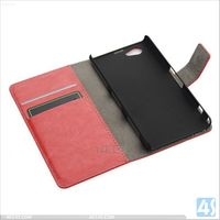 Sublimation wallet leather case for sony xperia z1 mini