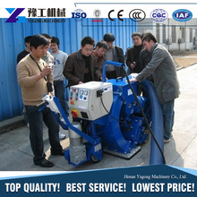 Second hand q378e double hooks hangers hoisting type sand blasting machine abrator metal surface rust removal equipment price