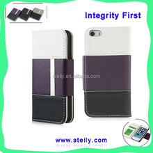 TOP Quality Modern Stylish PU Leather With Card Slot For iPhone 5 Case, Phone Case For iPhone 5, For iPhone5 Leather Case