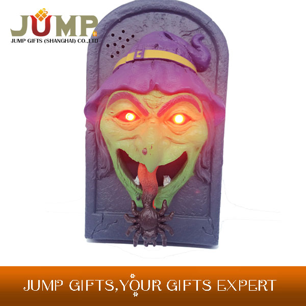 Hot selling Halloween decorative skeleton electronic luminous screaming tombstone