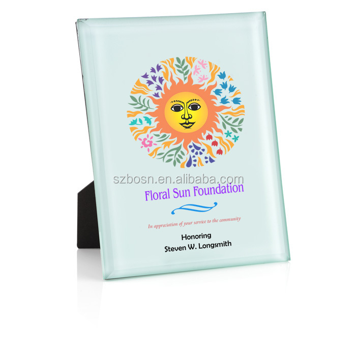 Your Logo Graces The Front Honorable Award; Jade Acrylic Plaque; Acrylic Award