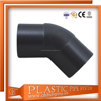 HDPE Clamp Pipe Fittings Elbow