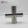 pipe cross, stainless steel, sanitary grade
