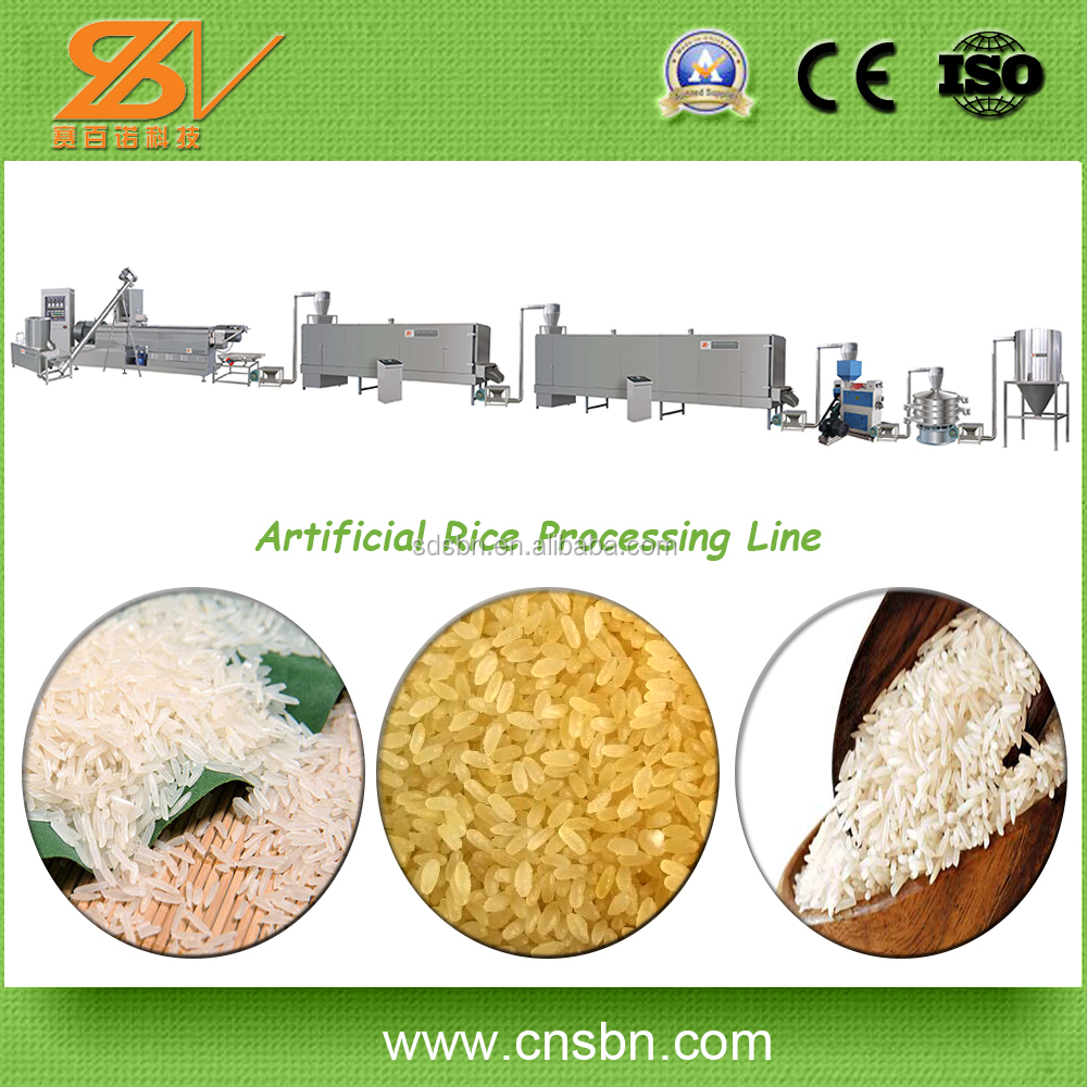 Full Automatic new 150kg/h,250kg/h,600kg/h Extruded Rice Making Machine/Reconstituted Nutrition Rice Processing Line