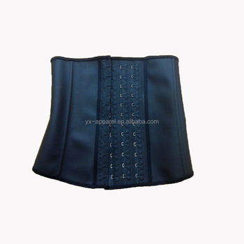 Women waist trainer ann chery rubber hook latex corset