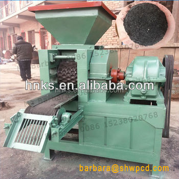 Roller type coal charcoal briquette making machine