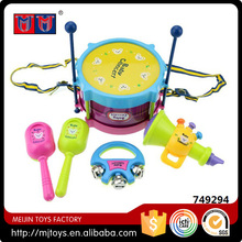 Child toy instrument music mini drum play set for kids