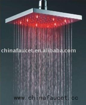 Led square shower head brass shower head pommeau de douche buy led square s - Pommeau de douche a led ...