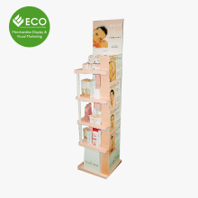 Cheap Price Customized Cardboard Cosmetic Display Cabinet And Showcase Wholesale