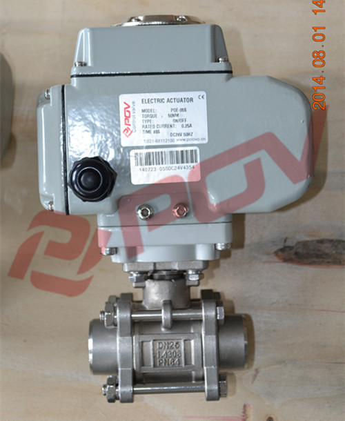 high quality ss304 liquid 3pc electric weld air ball valve ac380v china manufacturer