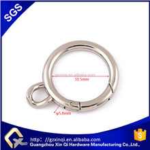 Hot sales spring gate metal O ring zinc alloy in bags