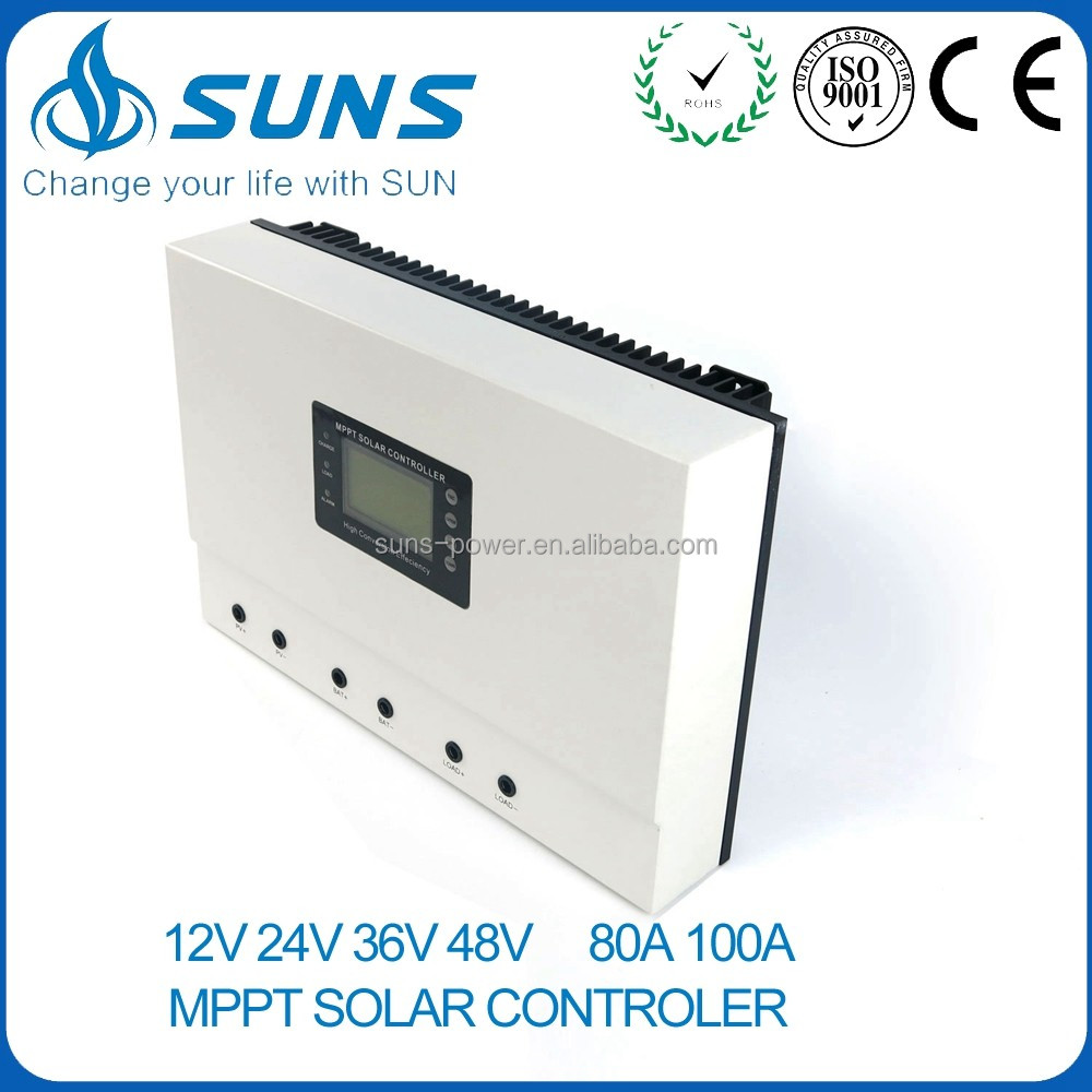 Hot sale 12V 24V 48V 80A 100A EPSOLAR outback LCD display MPPT solar charge controller