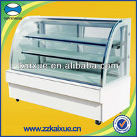 Best quality curved glass cake refrigerator
