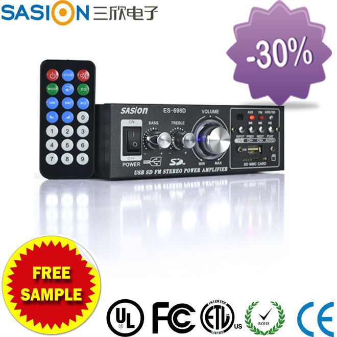 Sasion ES-698D portable digital stereo echo audio home power amplifier