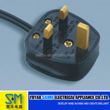 6A/10A 250V 3 pin UK fused plug