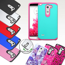 Wholesale PC+TPU Hybrid Protective Shockproof Hard Slim Armor/Armour Phone Case Cover for LG G3