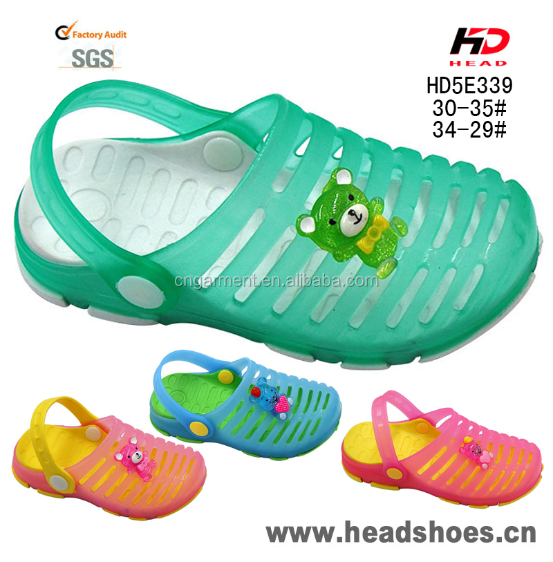 Kids 2016 newest model PVC EVA summer jelly shoes garden clog beach sandals