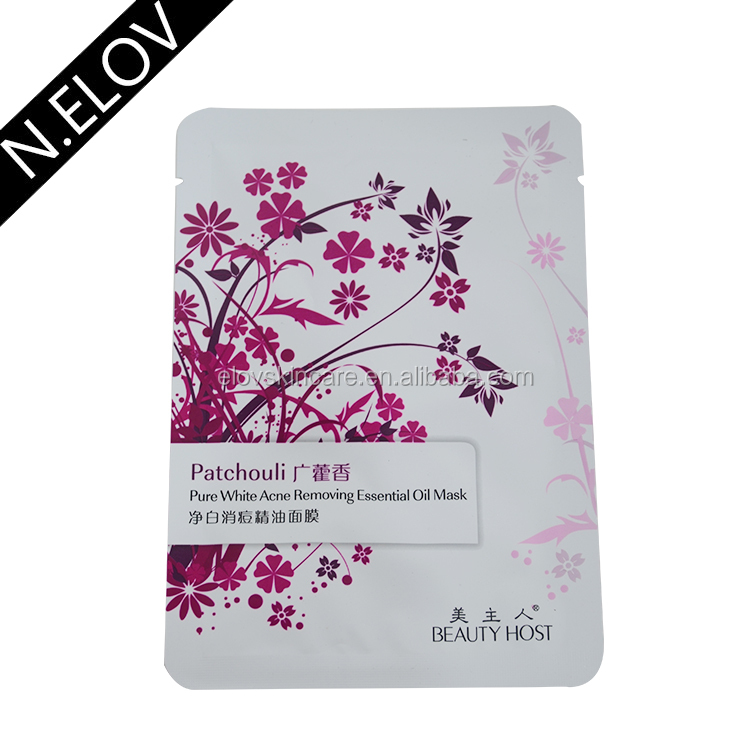 China Wholesale Sheet Patchouli Pure White Acne Removing Essential Oil Mask For Face