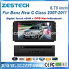 ZESTECH Dashboard placement Car dvd for Mercedes Benz C Class W204 (2008-2010) with GPS BT DVD CANBUS 3G