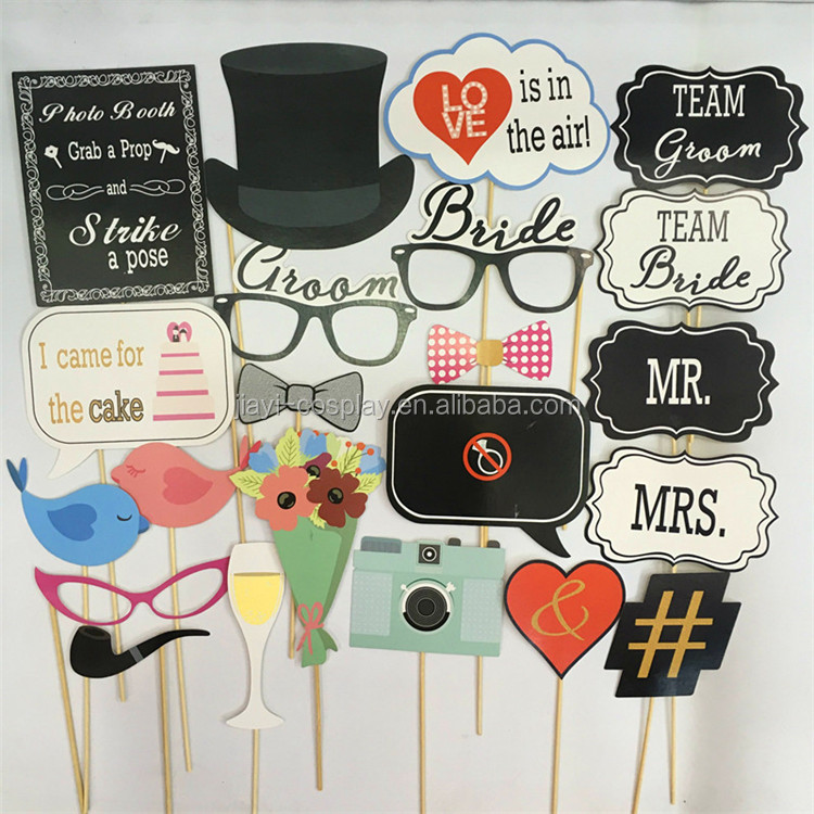 Wedding Photo Booth Props with Strike For Wedding Party