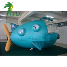 Outdoor Remote Control Inflatable Airship , Blue Giant RC Inflatable Spaceship For Sale
