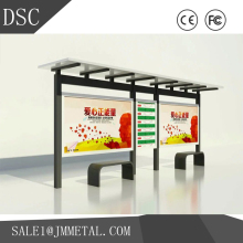 custom printed Painting/Welding/Polishing outdoor advertising bus shelter