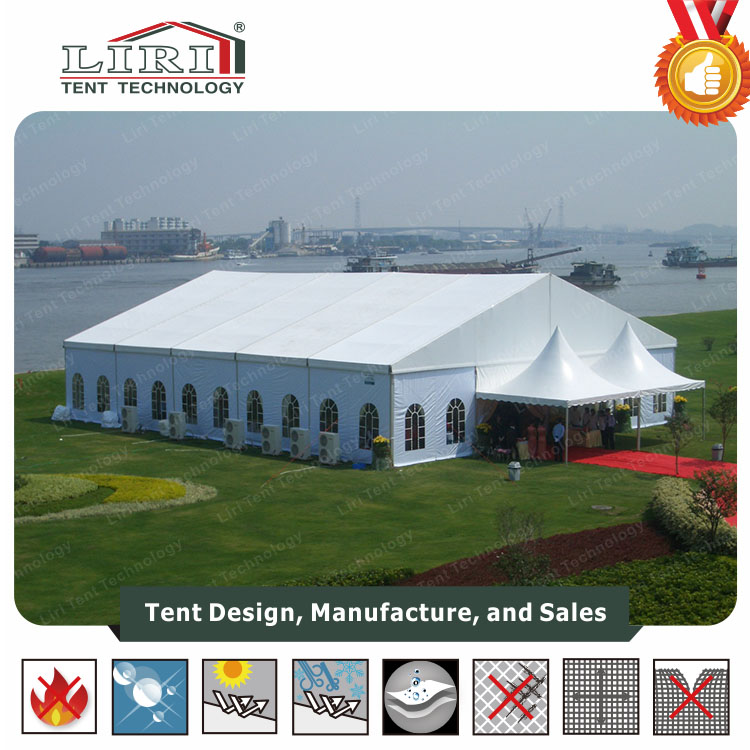 House Shaped Tent with Windows and Doors / Solid Wall Tent House Price