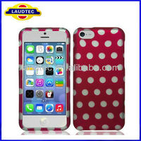 2013 Newest Polka Hard Case for iPhone 5C , Cute Case for iPhone 5C, Case for iphone 5c Laudtec
