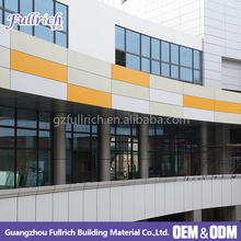 2018 metal building material curved suspended ceiling aluminum curtain wall