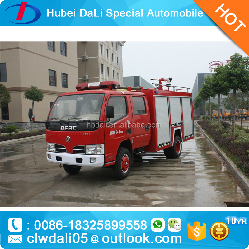 6000liter Dongfeng double cabin fire engine truck