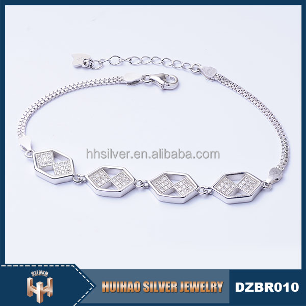 2016 top selling high quality girls new design bracelet 925 silver