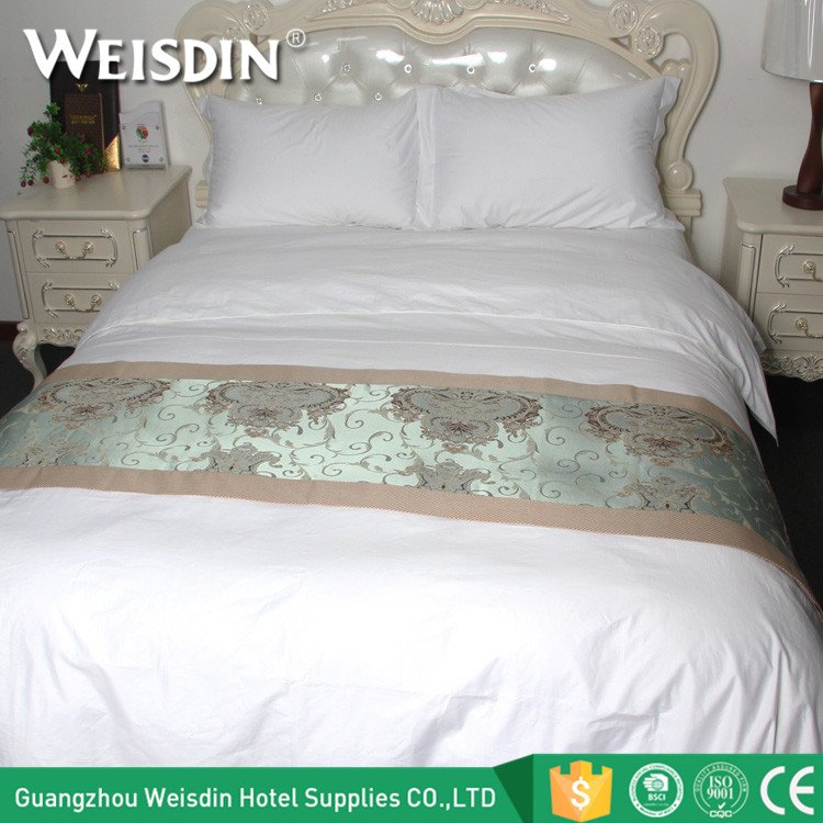WEISDIN hotel suppliers polyester/cotton manufacturing wholesale bed sheet