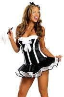Popular in the prevailing market women latex french maid costume pattern BWG13158