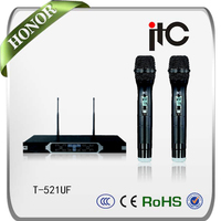 ITC T-521UF Hot Selling Long Transmission Distance PLL UHF Wireless Microphone