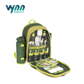 4 Person Picnic Backpack Hamper Cooler Bag with Tableware Set