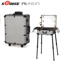 Best selling fancy light weight cosmetic professional makeup trolley case with lights
