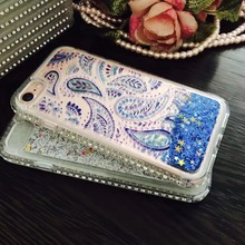 Liquid Glitter Sand Sparkle Diamond Jewelled Phone Case Cover for iPhone 6/6S+
